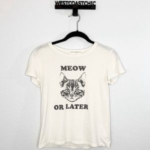 Project Social Urban Outfitters Meow Or Later Tee
